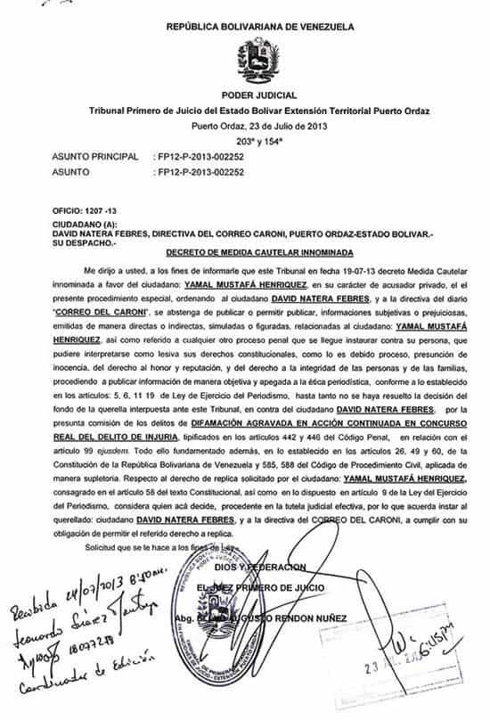 orden_contra_correo_del_caroni_24jul2013_caso_yamal_mustafa