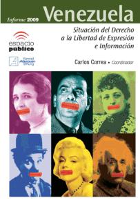 portada informe 2009 libertad de expresión en Venezuela Espacio Público