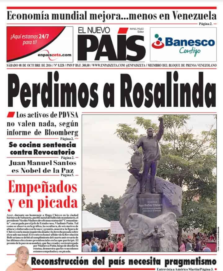 Esta es la portada que disgustó a Maduro y por la que ordenó la demanda. Cortesía.
