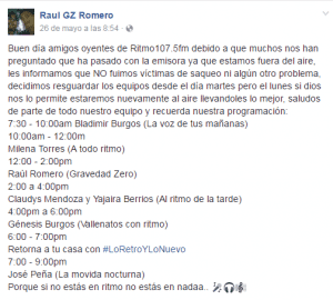 Raul Romero Facebook Radio Barinas