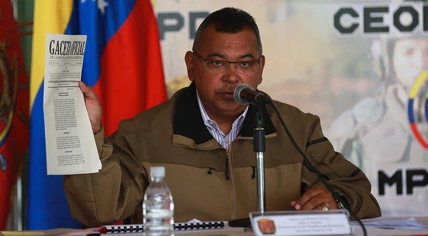 Ministro de Interior, Justicia y Paz