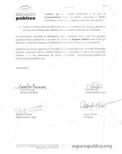 Conatel-Petición