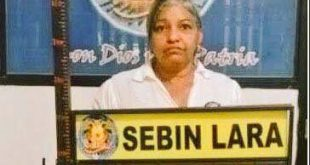 Lenny Martinez detenida en lara
