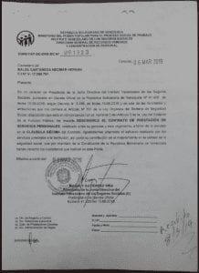 Despido dr Neomar Balza