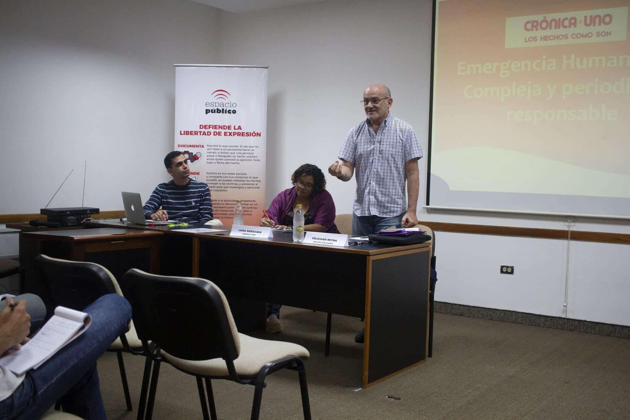 Lovera, Maracara y Reyna en la mesa de trabajo sobre coberura de la Emergencia Humanitaria Compleja