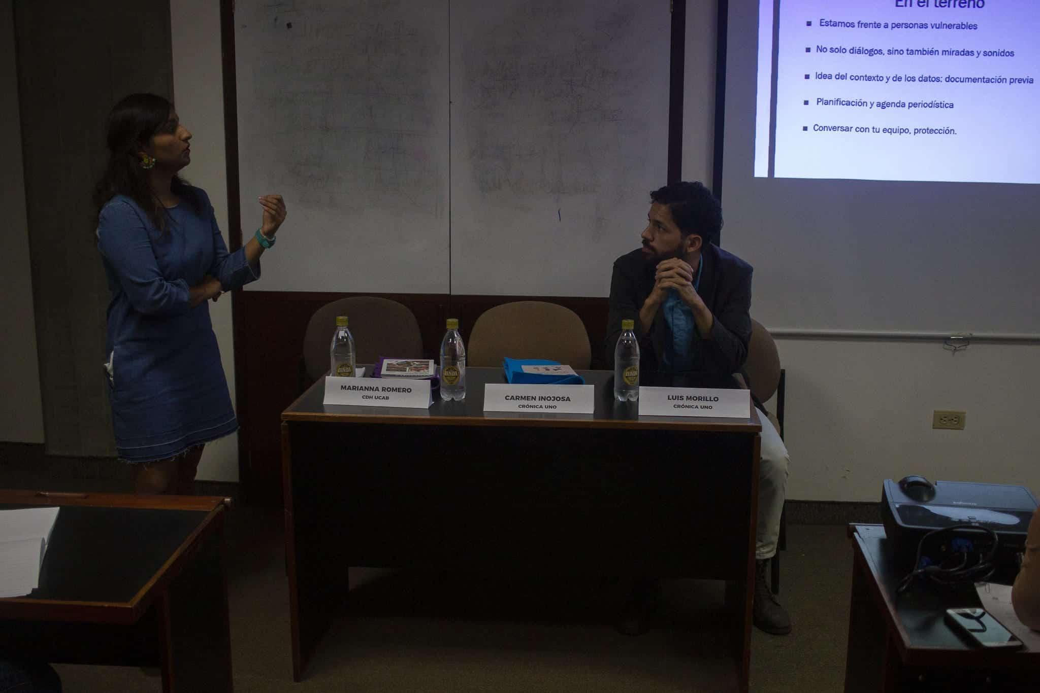 Inojosa y Morillo en la mesa de cobertura responsable sobre la migración venezolana
