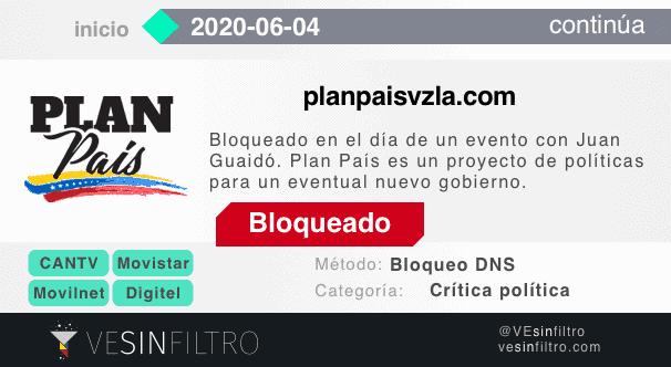Bloqueo planpaisvzla.com