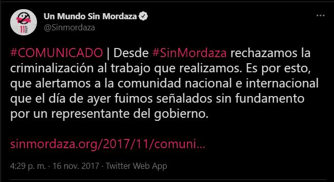 Sin Mordaza Comunicado